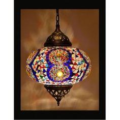 Turkse hanglamp mozaïek multicolour