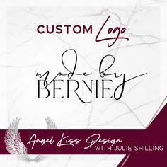 Custom Logo for Made by Bernie # Angel Kisses, Marketing Materials, Business Logo, Custom Logos, Design, Design Comics