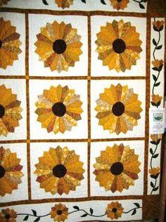 Dresden Plate Sunflowers