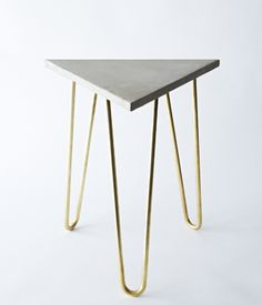 Zelda Table by Brooklyn-based designer Katy Skelton. This refined industrial table is made of solid brass hairpin legs paired with an eng...