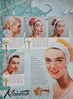 Image result for hair cap 1955