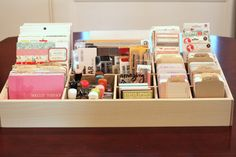 Large 24 craft storage for scrapbooking project life by CherieBee, $75.00
