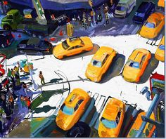 Tom Christopher And Would the World Really Miss One Little Cab or Two? Acrylic on canvas 48 x 60 inches