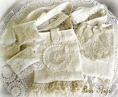Linen and lace bags plus Lavender filled sachets