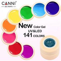 Canni gel lak 5 ml 141 pure kleuren uv gel manicure diy Nail Art Tips Gel Polish Ontwerp 50618 Vernis Kleur Nail Schilderen Gel