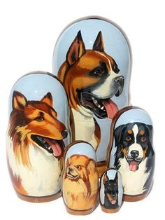 GreatRussianGifts.com - Doggy Russian Nesting Doll 5-Piece Set (http://www.greatrussiangifts.com/doggy-russian-nesting-doll-5-piece-set/)