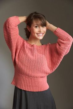 This crochet sweater is so relaxed and vintage. Freesia Pullover - Media - Crochet Me