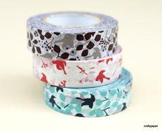 Japanese Washi Masking Tape - Message Birds - Set 3. $10,50, via Etsy.