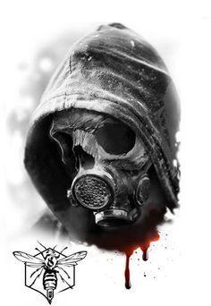 Gas mask Gas Mask Drawing, Gas Mask Art, Skull Tattoos, Body Art Tattoos, Sleeve Tattoos, Tattoo Design Drawings, Tattoo Sketches, Arm Cover Up Tattoos, Totenkopf Tattoos