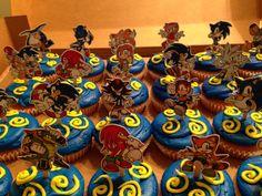 Sonic the hedgehog cupcakes