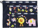 LeSportsac 3 Piece Travel Set Bag,Zoo Cute,One Size
