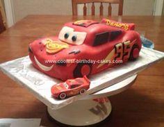 Coolest Lightning McQueen Cake 100 cakepins.com