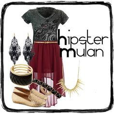 """""""Hipster Mulan"""" by ponyboy-and-stargirl on Polyvore"""