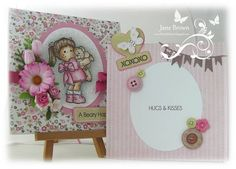 A soft pink girl's card that is just perfect for many ocassions!  Every little girl's dream colours of pink and brown give this card such warmth, and of course who doesn't love a teddy bear?! Papers used to create this card are from Panda Paws Girls Collection from Nitwit Collections™