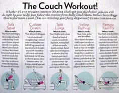 Couch Workout. Just What I need!