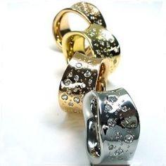 Diamantring / Diamantarmband / Diamantschmuck: Diamantring - Wellenring mit 0.80 Karat Diamanten ...