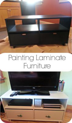 Let me start by saying that I don't advocate going out of your way to obtain laminate furniture to refinish. Laminate is usually composed of cheap particle board covered in a layer of paper o…