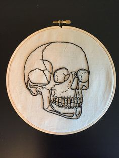 Getting Ready for Halloween! Shirt Embroidery, Hand Embroidery Stitches, Modern Embroidery, Cross Stitch Embroidery, Cross Stitch Patterns, Embroidery Designs, Embroidered Leaves, Cross Stitching, Textile Art