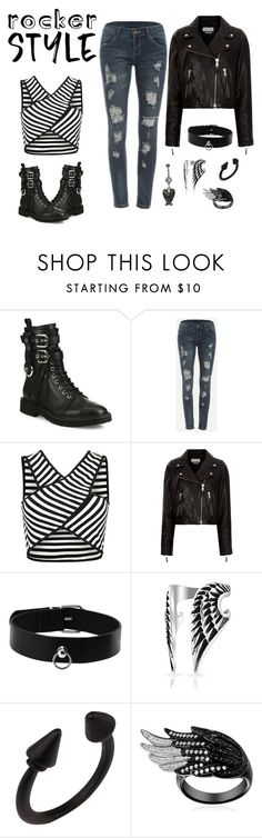 """k.i.s.s."" by jean-s-louis ❤ liked on Polyvore featuring Giuseppe Zanotti, WithChic, Étoile Isabel Marant, Bling Jewelry, rockerchic, rockerstyle and jeanslouis"