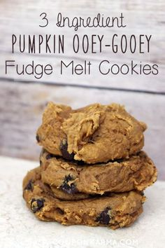 This is a recipe I make every fall! Easy and delicious pumpkin chocolate chip cookies. Best part is that it only takes 3 ingredients!