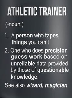Ideas Athletic Training Quotes Funny Truths For 2019 Strength Training For Beginners, Training Quotes, Athletic Trainer, Sports Medicine, Love My Job, The Magicians, Funny Quotes, Anatomy Art, Human Anatomy