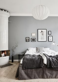 art deco home Gray Bedroom Walls, Dream Bedroom, Home Bedroom, Bedroom Decor, Grey Walls, Interior Exterior, Home Interior, Interior Design, Room Inspiration