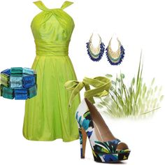 Lime Dress, created by jchind on Polyvore