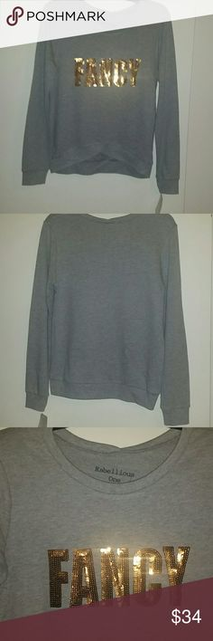 *NWT REDUCED* Rebellious One 'Fancy' sequin top *NWT* Gray Rebellious One 'Fancy', sequins top, size Small/Juniors. Sequins are gold. Super cute! Rebellious One Tops