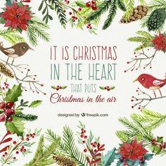 水彩画のスタイルのクリスマスカード ベクター画像 | 無料ダウンロード