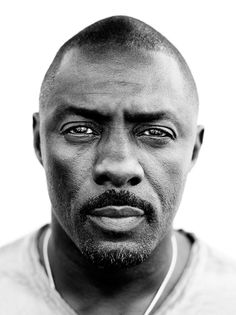 Idris Elba photographed by Peter Yang. Photography, portrait, black and white Idris Elba Luther, Idriss Elba, Black Is Beautiful, Beautiful People, Beautiful Celebrities, Poses References, Celebrity Portraits, Black And White Portraits, Interesting Faces