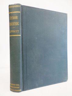 OUTDOOR ADVERTISING by Wilmot Lippincott 1923 1st edition 2nd imp. vintage book