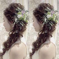 Evening Hairstyles, Winter Hairstyles, Cute Hairstyles, Wedding Hairstyles, Wedding Hair Flowers, Flowers In Hair, Natural Beauty Tips, Braided Updo, Bridal Hair