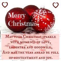 Christmas message card with image