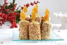 Queste candele dolci di Natale sono un'altra simpatica idea per il periodo delle feste: raggruppandole in maniera armoniosa potete creare un bel centrotavola con cui stupire i