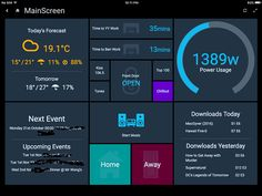 Examples of HABPanel Solutions – Tutorials & Examples / HABPanel Examples – open… – Frederik Seitz – technologie Dashboard Interface, Dashboard Design, Diy Electronics, Electronics Projects, Computer Projects, Diy Home Automation, Raspberry Pi Projects, Electrical Projects, Web Design