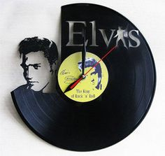 Elvis Presley - Vinyl Record Wall Clock / Black Home DECOR Decoration / Customized and Personalized / Laser cut / Vynil Clock / Vinil Clock