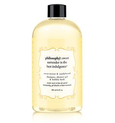 Philosophy sweet nectar & sandalwood    Love, Love, Love this! Showered with it today as a matter of fact!