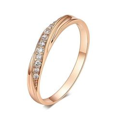 Top Quality Cubic Zirconia Rose Gold Ring