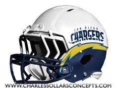 #Chargers Helmet #NFL #Nike Charles Sollars Concepts @charles elliott Sollars