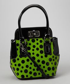 Take a look at this Lime Phoebe Satchel on zulily today!