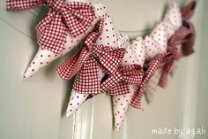 Polka Dots Heart Garland by made by agah