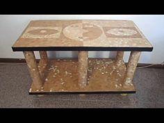 Como fazer uma mesa de papelão e casca de ovo - YouTube