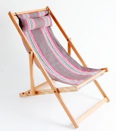 Deck chair with fabric sling - Gallant and Jones