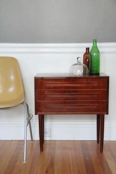 danish modern teak chest