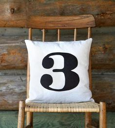 """It'd be cool if there were 3 pillows that said """"725"""". Custom Number Pillow Cover by Lori Todd on Scoutmob Shoppe"""