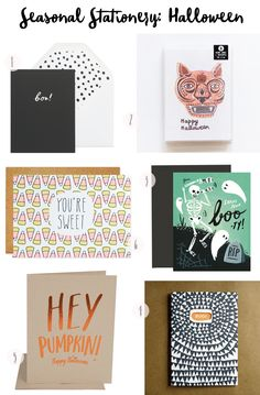 Seasonal Stationery: Halloween
