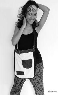 Linda ecobag de jeans! Lizz Designer Moda sustentável Fanny Pack, Jeans, Design, Fashion, Sustainable Fashion, Hip Bag, Moda, Fashion Styles