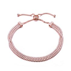 MSRP: $199.99  Our Price: $129.99  Savings: $80.00    Item Number: BR8752-ROSE  Availability: Usually Ships in 5 Business Days    PRODUCT DESCRIPTION:    BOLO    Designed for today's fast-moving, contemporary woman, our new Bolo Friendship bracelets are smart, stylish and easy to wear. Meticulously executed in 14k gold and sterling silver, these iconic bracelets are easily adjustable to fit any wrist. Each unique style of our Bolo collection looks beautiful worn as one piece alone or stacked…