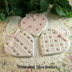 Whimsical Bliss Studios - Pink Heart Ornaments