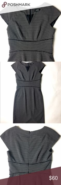 Tahari Dress Details: Tahari dress in a black and subtle white circle pattern. Near-perfect condition in a size 4.  Kate Harrington Boutique does not trade or negotiate price in the comment section. However, for most items we may consider reasonable offers.   Happy Poshing! Tahari Dresses